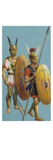 Samnite and Roman Soldiers-Severino Baraldi-Giclee Print