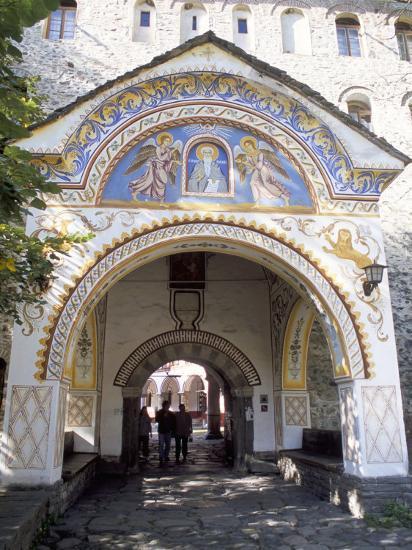 Samokov Gate of Rila Monastery, Unesco World Heritage Site, Rila Mountains, Bulgaria-Richard Nebesky-Photographic Print