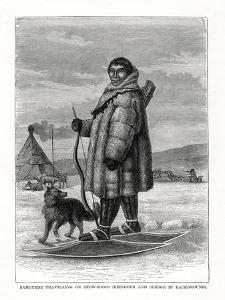 Samoyede Travelling on Snow-Shoes, Russia, 1877