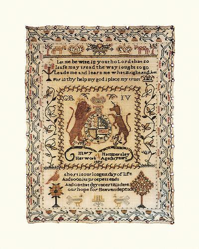 Sampler with Coat of Arms-Mary Hammersley-Premium Giclee Print