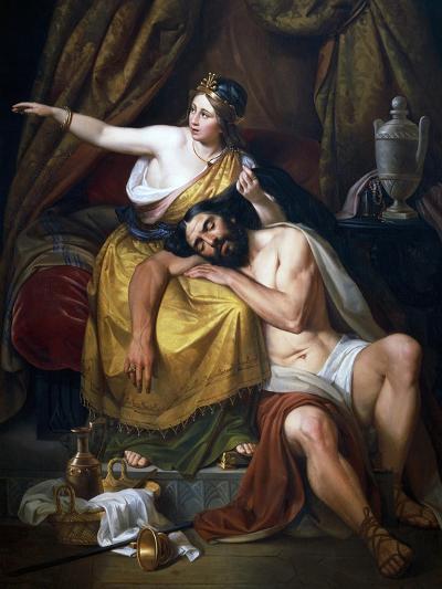 Samson and Delilah, 1851-Jose Salome Pina-Giclee Print