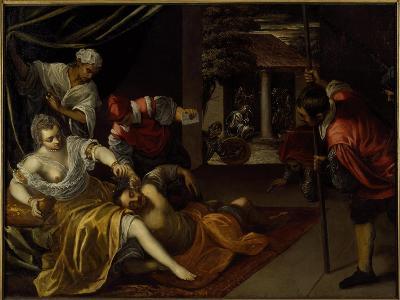 Samson and Delilah-Jacopo Robusti Tintoretto-Giclee Print