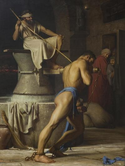 Samson and the Philistines, 1863-Carl Bloch-Giclee Print