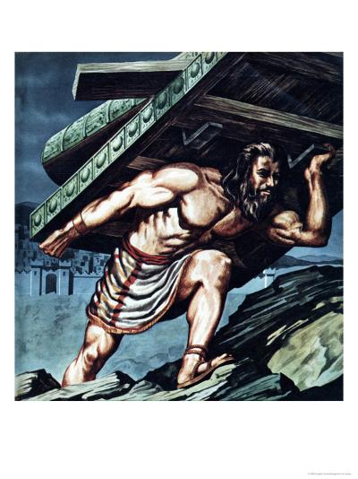 Samson Carrying the Gate of Gaza--Giclee Print