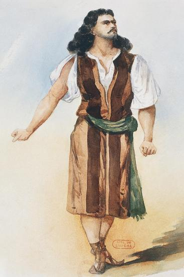 Samson, Costume Sketch-Charles Bianchini-Giclee Print