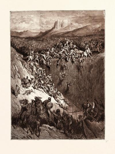 Samson Destroying the Philistines with the Jawbone of an Ass-Gustave Dore-Giclee Print
