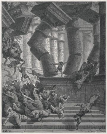 Samson Destroys the Temple