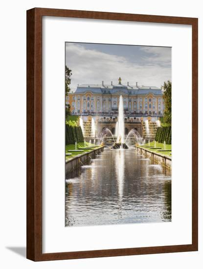Samson Fountain, Great Palace, view from Sea Canal, Peterhof, UNESCO World Heritage Site, near St.-Richard Maschmeyer-Framed Photographic Print