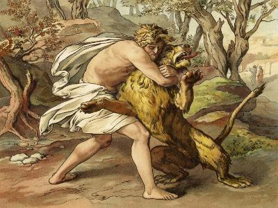 Samson Killing a Young Lion--Giclee Print