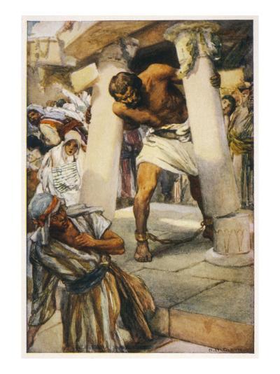 Samson Pulls Down the Pillars of the Temple--Giclee Print