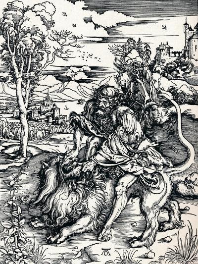 Samson Rending the Lion, 1497-Albrecht D?rer-Giclee Print
