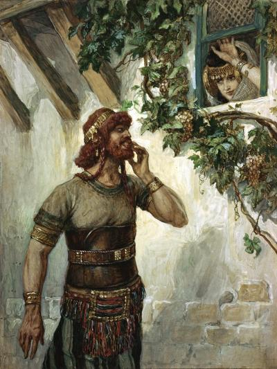 Samson Seeth Delilah at Her Window-James Jacques Joseph Tissot-Giclee Print