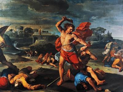Samson Slaying Philistines-Aureliano Milani-Giclee Print