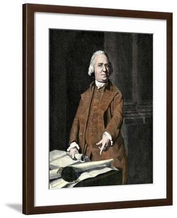Samuel Adams, a Leader of the Sons of Liberty in Massachusetts before the Revolutionary War--Framed Giclee Print