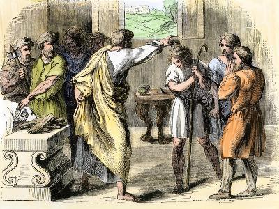 Samuel Annointing David King of Judah and Israel--Giclee Print
