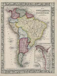 Map of South America showing its political divisions from Mitchell's new general atlas, 1863 by Samuel Augustus Mitchell