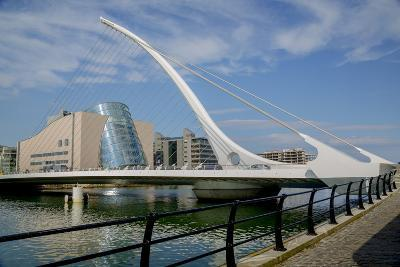 Samuel Beckett Bridge and the Convention Centre Dublin (Ccd) in the Dublin Docklands-Tim Thompson-Photographic Print