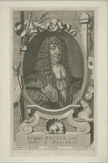 Samuel Butler in Wig and Robes, 1744-George Vertue-Giclee Print