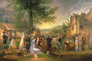 St. James's Fair, Bristol, 1824 by Samuel Colman