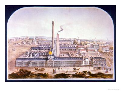 Samuel Colt's Patent Fire Arms Manufactory, Hartford, Connecticut, 1862--Giclee Print