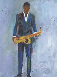 Sax in a Blue Suit by Samuel Dixon