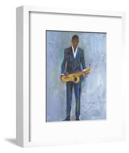 Sax in a Blue Suit by Samuel Dixon