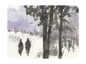 Woodland Sketch I by Samuel Dixon