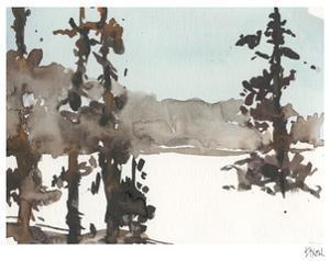 Woodland Sketch III by Samuel Dixon
