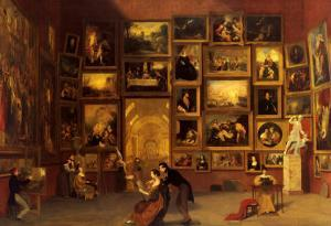 Gallery of the Louvre, 1831-33 by Samuel Finley Breese Morse