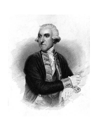 Samuel Hood (1724-181), 1st Viscount Hood, British Admiral, 1837-Thomas Phillibrown-Giclee Print