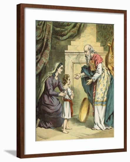 Samuel in the Temple--Framed Giclee Print