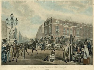 Elephant and Castle, Newington, London, 1826