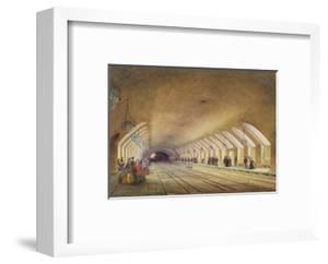 Baker Street Station, 1863 (W/C and Bodycolour with Pen and Ink on Paper) by Samuel John Hodson