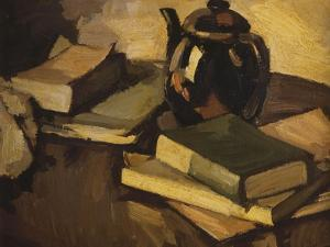 A Still Life with a Teapot and Books on a Table, C.1926 by Samuel John Peploe