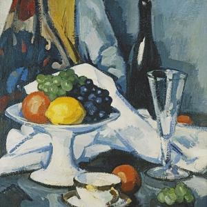 Fruit and Wine, c. 1922 by Samuel John Peploe