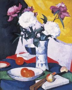 Peonies and Fruit by Samuel John Peploe