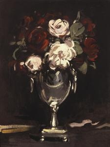 Red and White Roses in a Silver Urn, C.1897 by Samuel John Peploe