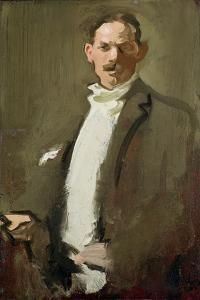 Self Portrait, C.1900 (Panel) by Samuel John Peploe