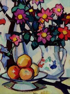 Still Life of Dahlias and Fruit, c.1910-12 by Samuel John Peploe