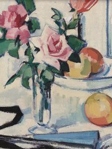 Still Life with Pink Roses by Samuel John Peploe