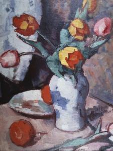 Tulips, C.1928 by Samuel John Peploe