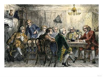 Samuel Johson and James Boswell at the Literary Club, London, 1700s--Giclee Print