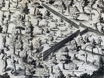 Deer Hunting in Canada, from Les Voyages De La Nouvelle France, 1632