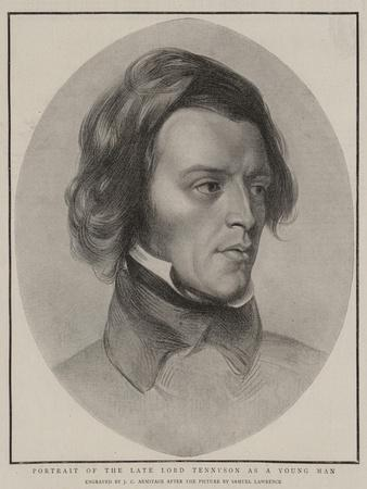 Portrait of the Late Lord Tennyson as a Young Man