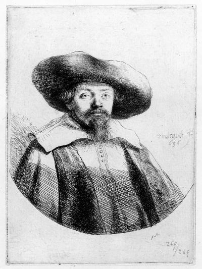 Samuel Manasseh Ben Israel, 1636 (Etching)-Rembrandt van Rijn-Giclee Print