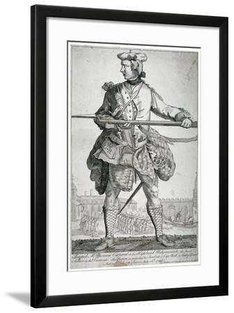 Samuel Mcpherson, Scottish Soldier, 1743-George Bickham-Framed Giclee Print