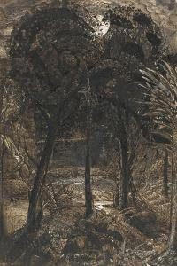 A Moonlit Scene with a Winding River, 1827 by Samuel Palmer