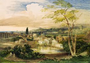 Borghese Gardens in Rome by Samuel Palmer