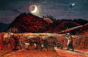 Cornfield by Moonlight, 1830 by Samuel Palmer