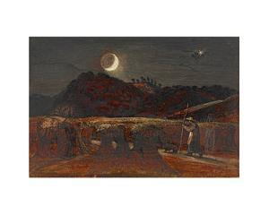 Cornfield by Moonlight by Samuel Palmer